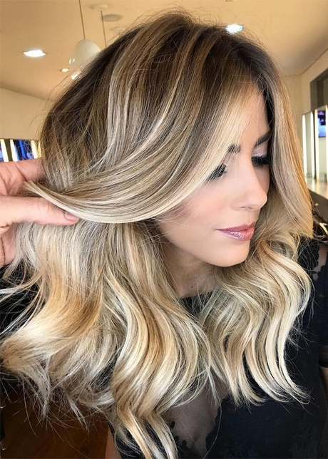 Ombre Hair Brown To Caramel To Blonde Medium Length Fryzury ombre 2018